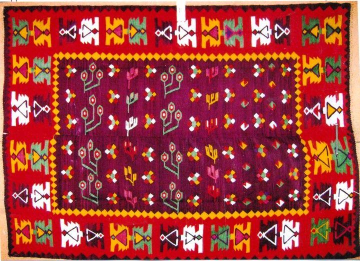 Chilim - Pârlogea, MariaCovor oltenesc Chilim - Muzeul Câmpiei Băileştilor - BĂILEŞTI (Patrimoniul Cultural National Mobil din Romania. Ordin de clasare: 2306/07.05.2008 - Fond)