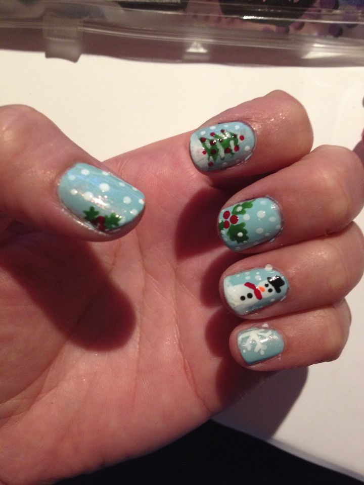 Chrismas nails home made