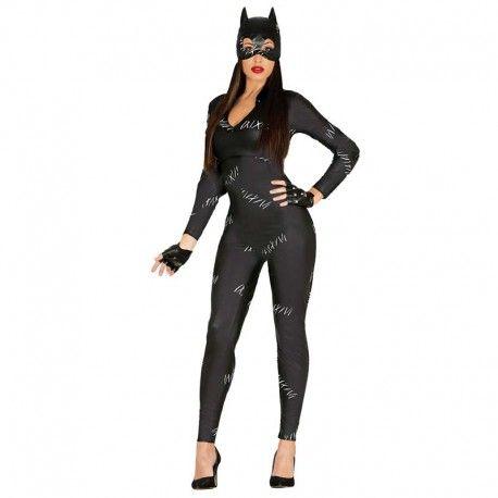 Disfraces Personajes mujer | Disfraz de cat woman. Sugerente modelo de Cat Woman con el que podrás recorrer los tejados de la ciudad en las noches oscuras en busca de tus enemigos. Compuesto de buzo de cuerpo entero y máscara capucha. Talla M. 22,95€ #catwoman #disfrazcatwoman #disfraz #superheroe #disfrazpersonaje #disfraces
