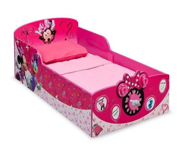 Interactive Wood Toddler Bed Disney Minnie Mouse Furniture Kids Bedroom Girls  The perfect piece to add to your bedroom furniture for your Disney loving toddler!