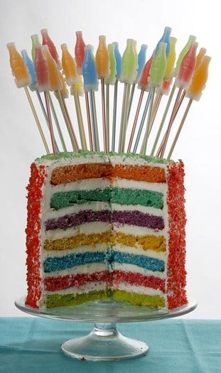 Seven-Layer Soda Pop Rocks Cake