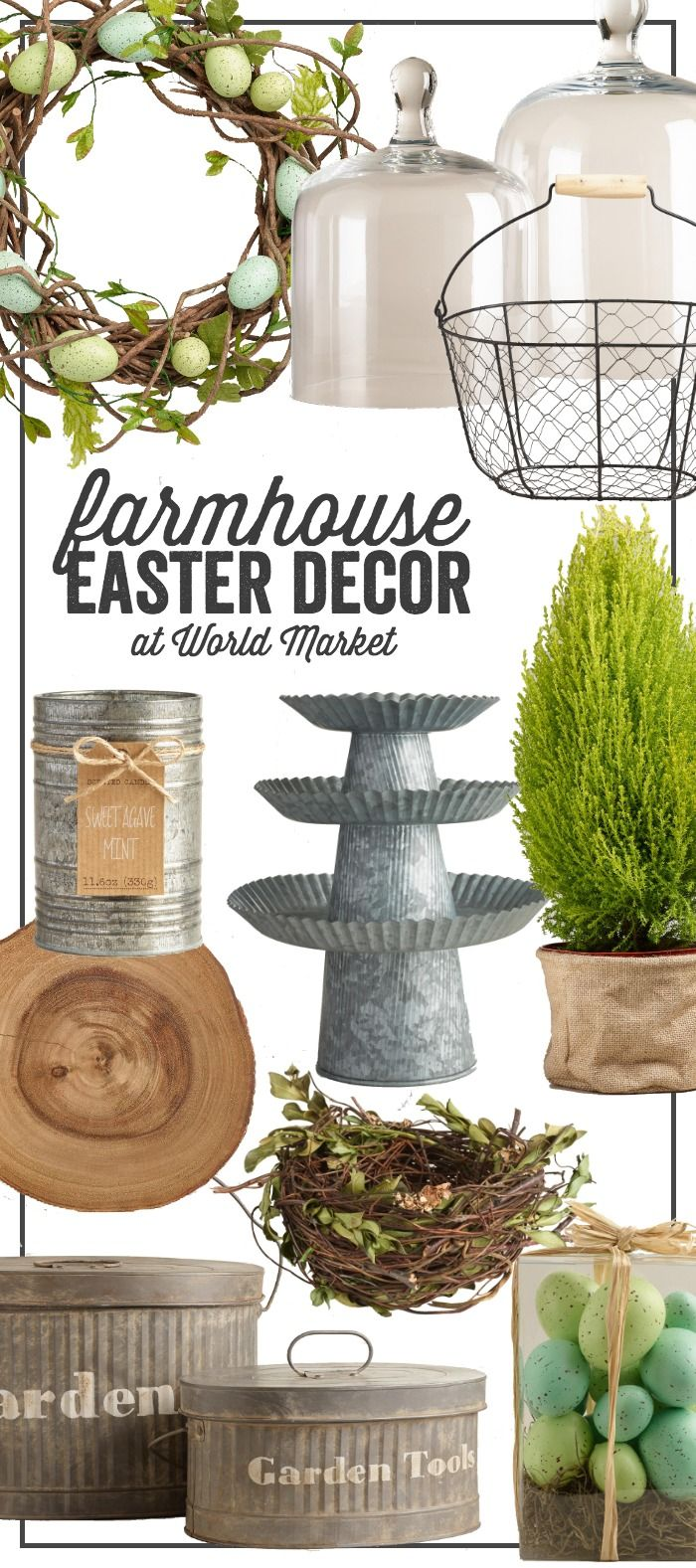 Outdoor easter decorations pinterest - Beautiful Farmhouse Easter Decor Get The Look At Cost Plus World Market Ad