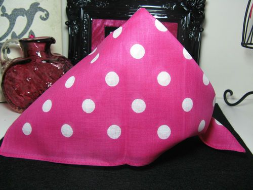 New Pink & White Polka Dot Design Cotton Bandana Hair Wrap Head Wrap Scarf