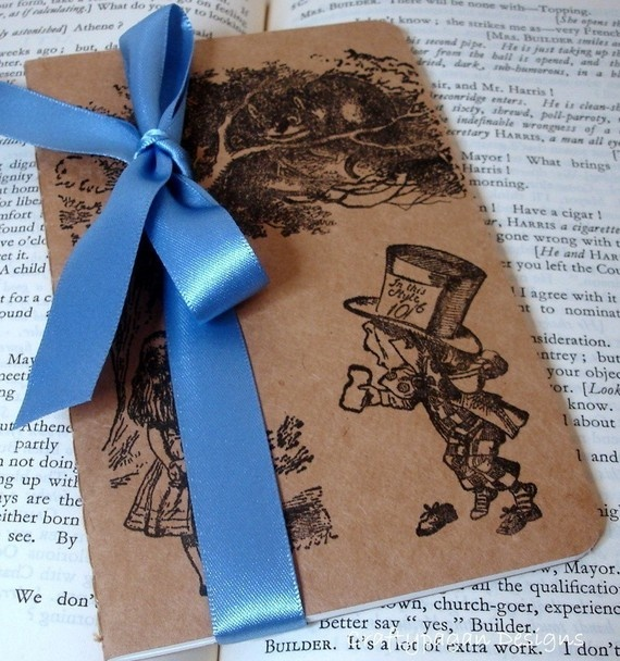 Alice in Wonderland journal, complete with ribbon