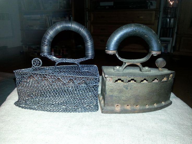 Historická žehlička zhotovená dle železného vzoru zapůjčeného z Krkonošského muzea řemesel v Poniklé