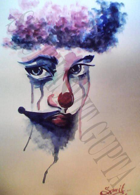 """The Joker""  Watercolor"