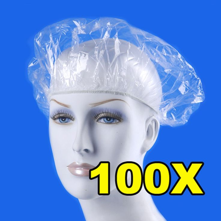 100pcs/pack Disposable Hat Hotel One-Off Elastic Shower Bathing Cap Clear Hair Salon Bathroom Products Free Shipping