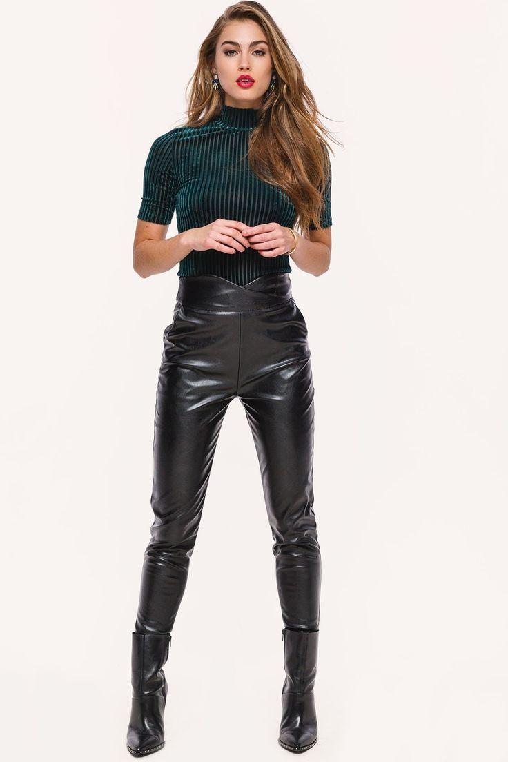 Loavies Zwarte Leren Broek Fashion Webshop Loavies