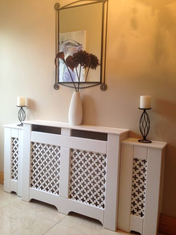 A split level radiator cabinet, the perfect finishing touch for any hallway