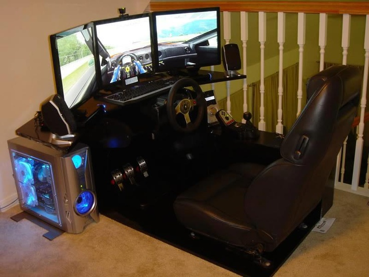 OMG I WANT THIS!!!! An at home driving gamers system!! GIVE ME GIVE ME!!!