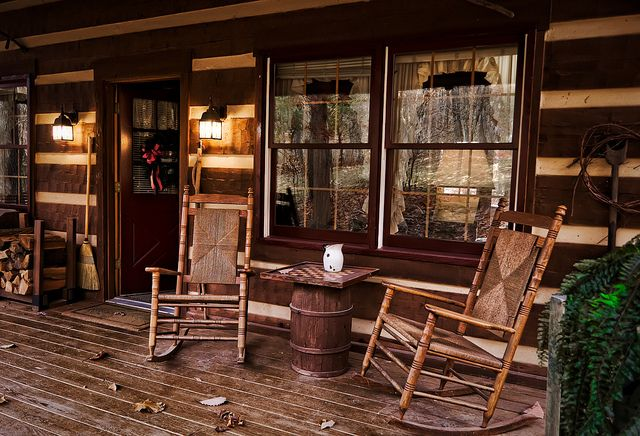 17 best images about cabin style living and decor on for Rustic front porch