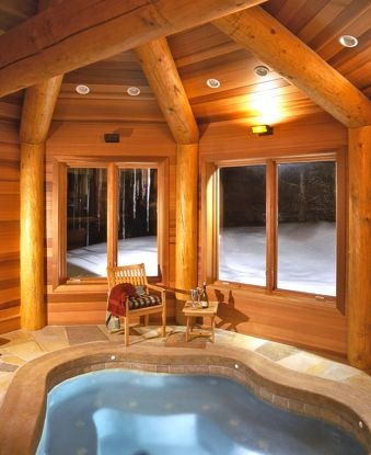 237 best images about things i love on pinterest beaded - Log cabins with indoor swimming pools ...