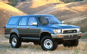 1990 Toyota 4 Runner, SR5 V6, Green. One of my longest owned vehicles.