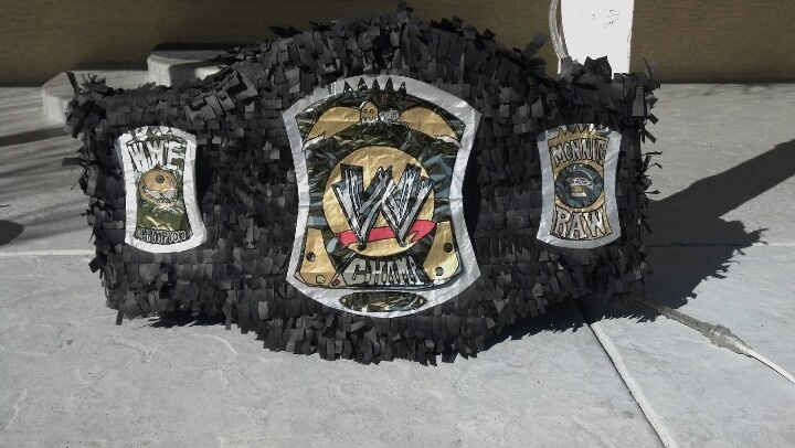 how to make a wwe championship belt out of paper
