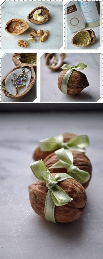 The idea to pack a small gift, I LOVE this!! Reminds me of a Christmas ornament we used to have!
