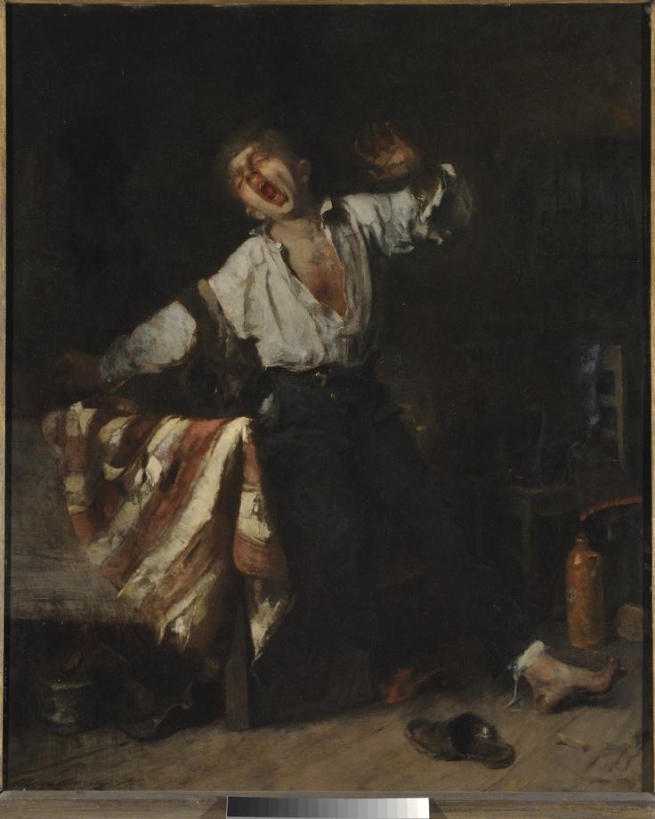 Munkácsy Mihály - Az ásító inas (1869)