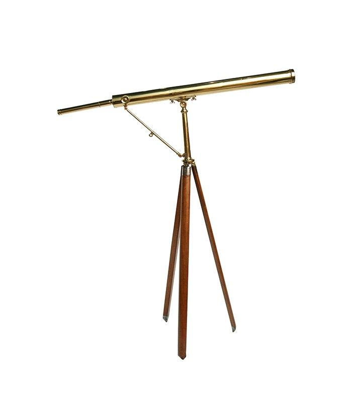 19th Centruy brass telescope.. perfect for water views from your beach style house