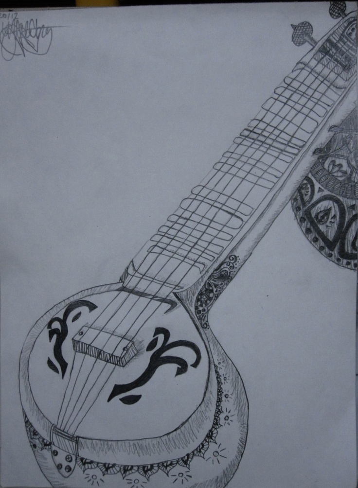 Veena Drawing Art Drawings Drawings Artwork Painting