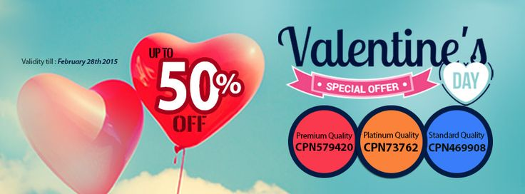 Make your Valentine more special with our amazing 50% Discount  #ValentinesDay #ValentinesDayGiftIdeas #PerfectWriting