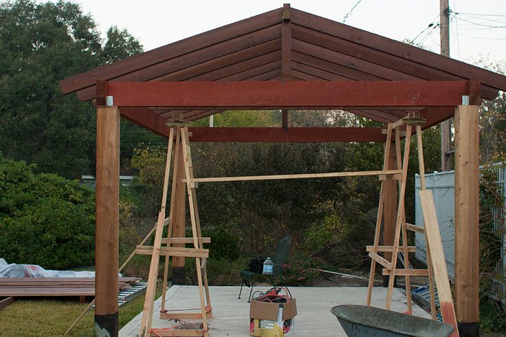 17 best images about pergola on pinterest deck pergola arbors and sunbrella curtains - Pergola with roof ...