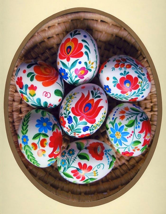 Plenty of Paprika: DIY Painted Hungarian {folk} Easter Eggs