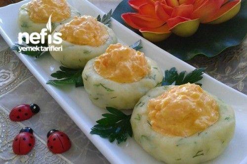 Patatesli Ve Havuçlu Süslü Salata Tarifi