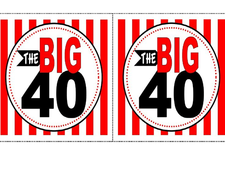 Exhilarating image throughout 40th birthday signs printable