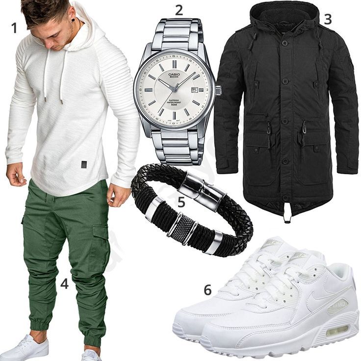 Street-Style mit weißem Hoodie und Jogg-Chino (m0858) #uhr #armband #nike #sneaker #jogginghose #outfit #style #herrenmode #männermode #fashion #menswear #herren #männer #mode #menstyle #mensfashion #menswear #inspiration #cloth #ootd #herrenoutfit #männeroutfit