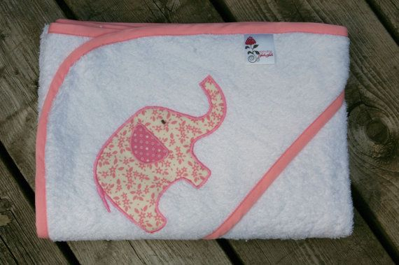 over sized hooded towel- elephant