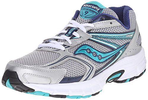 Saucony Women's Cohesion 9 Running Shoe, Silver/Navy/Teal, 8.5 M US Saucony http://smile.amazon.com/dp/B01018USDY/ref=cm_sw_r_pi_dp_Sh.cxb1DAZC70