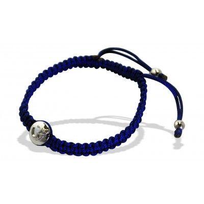 Om Disc Bracelet In Silver On Braided Nylon With 2 End Diamond Weight 0 01 Carat Online Pinterest Bracelets