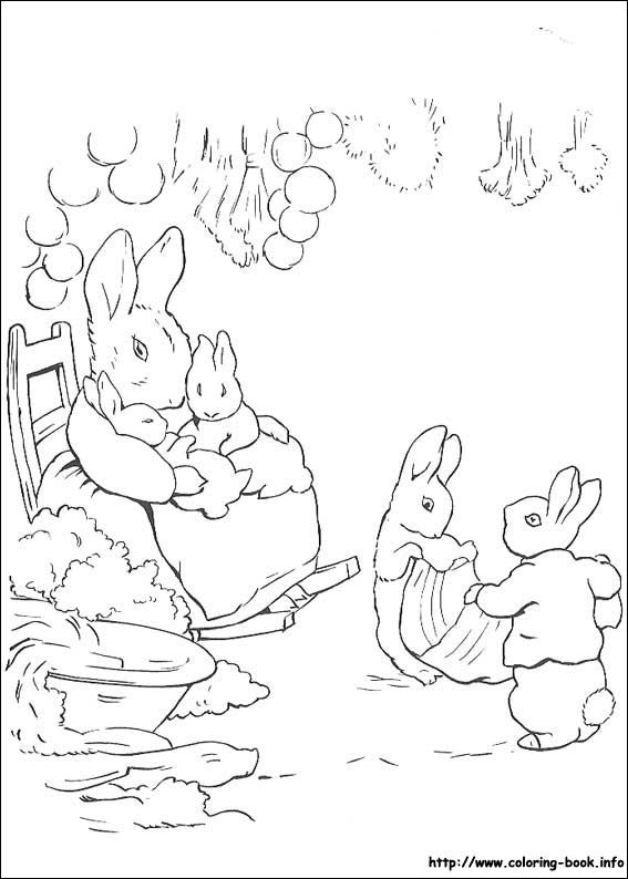 Peter Rabbit coloring picture PaintIdeas Pinterest