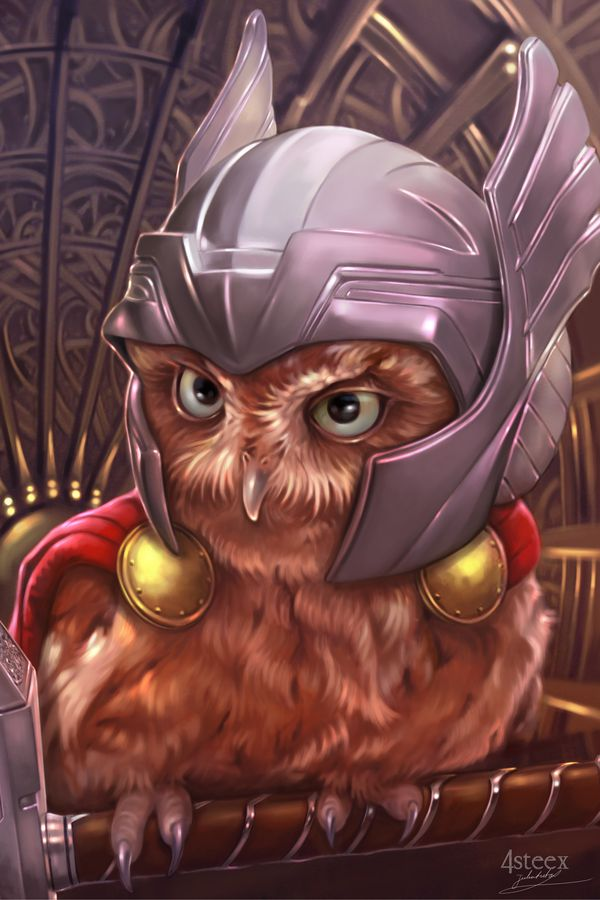 The Owlvengers - The Owl of Thunder by 4steex.deviantart.com on @DeviantArt