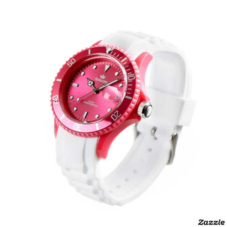 Knockout Pink and White Wristwatch by Fewsome