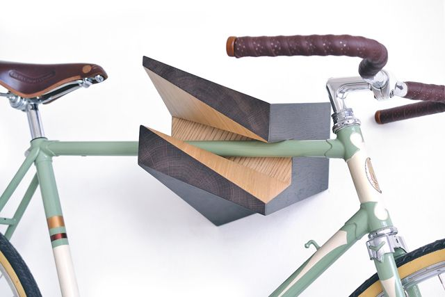 Latvia based industrial designer Reinis Salins has come up with a clever and decorative way to easily mount your bike onto your wall.