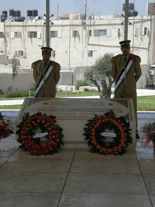 The mausoleum of Yasser Arafat in Ramallah (West Bank), Palestinian Territories.