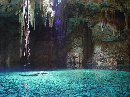Underground lake near Macan Ché on the Yucatán Peninsula