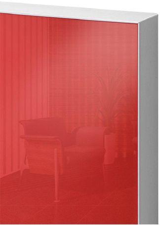 Türblatt mit ALU-Schutzkante und Glasdeck