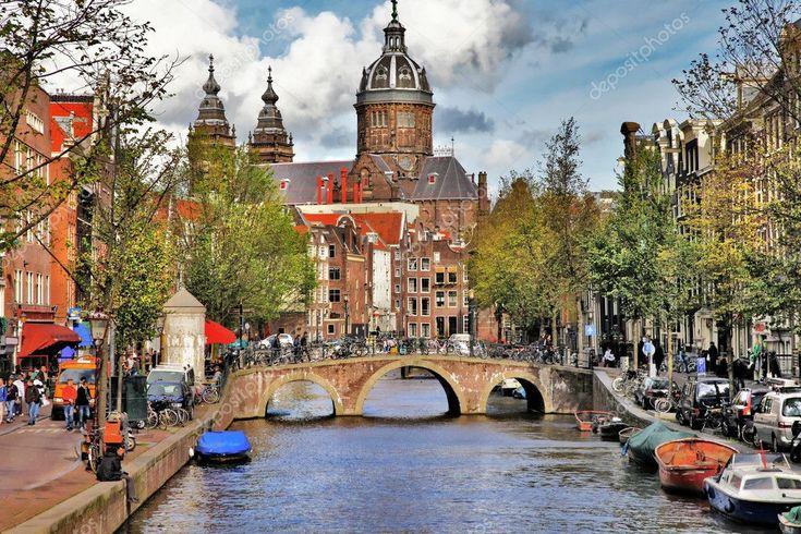 Bellissimi canali di Amsterdam – Foto Stock, #AFF, #Amsterdam, #Bella, #canali …