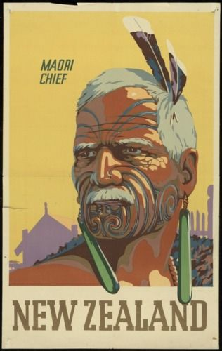 Maori Chief - Vintage NZ Tourism Poster for Sale - New Zealand Art Prints