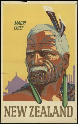 Maori Chief New Zealand tourism posters