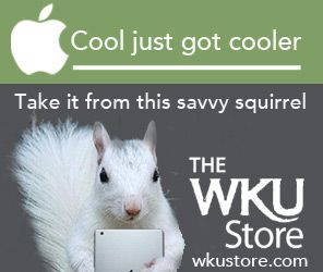 The Savvy Squirrel at The WKU Store on Main Campus. Savvy always saves.