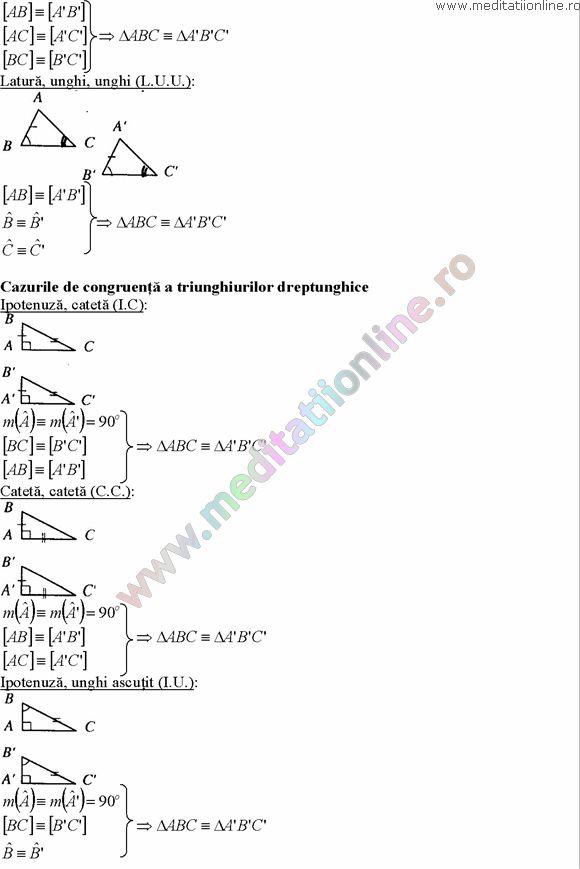 Formule matematica gimnaziu 5 8 Formule si teorie Geometrie plana si in spatiu si Trigonometrie pagina 4