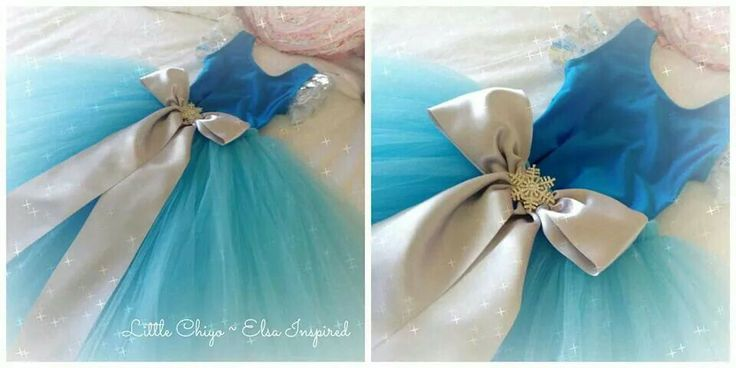 Elsa inspired tutu dress from Little Chiyo