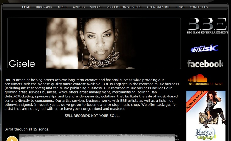 Gisele's Music Label Page