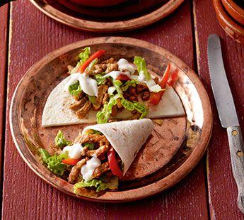 Mini Tortilla met shoarma en knoflooksaus (Gourmet gerecht )