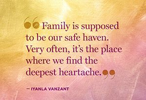 Iyanla Vanzant: 5 Thoughts to Remember During a Family Breakdown - @Helen George #FixMyLife Sad but true. The ones we love hurt us the most.