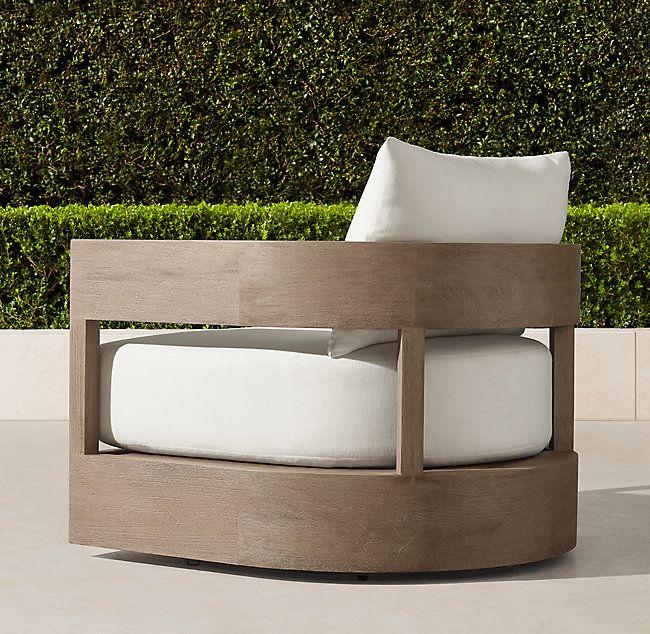 Balmain Teak Swivel Lounge Chair Restoration Hardware Outdoor Furniture Outdoor Swivel Chair Diy Outdoor Furniture