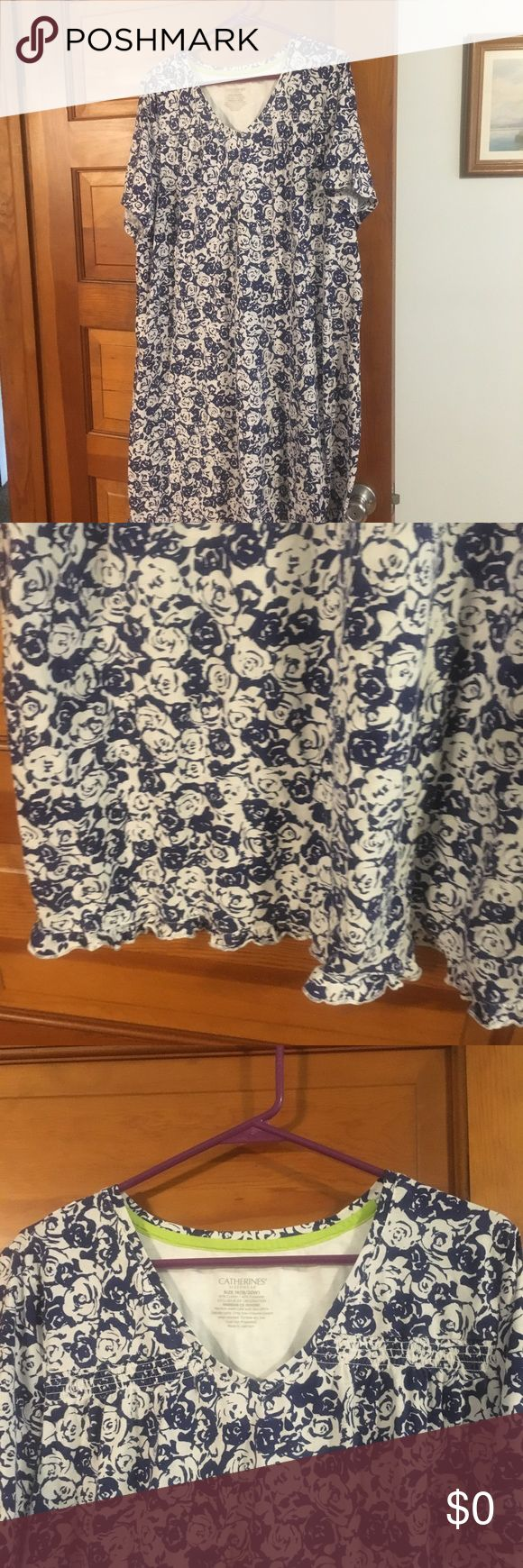 Free night gown This night gown  is free to the next person who buys from my plus section. It is pre-loved but has lots of wear left, with a tiny mark on it. But hey it's free if you are  the next person to purchase a plus size from me. Catherines Intimates & Sleepwear