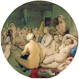 Le Bain turc est un tableau de Jean-Auguste-Dominique Ingres. Cette œuvre présente un groupe de femmes nues dans un harem.  ArtisteJean-Auguste-Dominique Ingres Date1862 TypeHuile sur bois TechniquePeinture à l'huile Dimensions (H × L)108 cm × 108 cm LocalisationMusée du Louvre, Paris